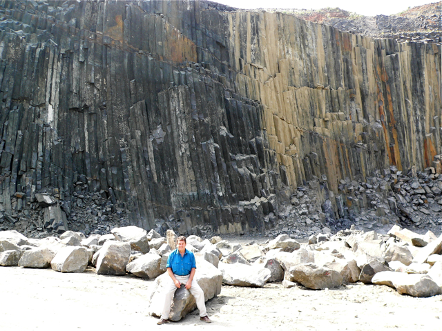 Photo of quarry with person sitting